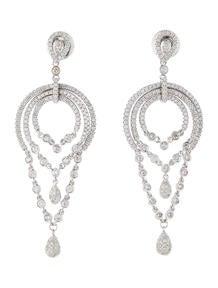2.40ctw Diamond Chandelier Earrings
