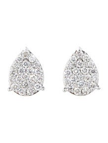 1.55ctw Diamond Cluster Earrings