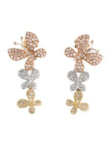 1.46ctw Diamond Butterfly Drop Earrings