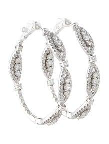 3.95ctw Diamond Hoop Earrings