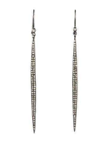 1.38ctw Pavé Diamond Bar Earrings