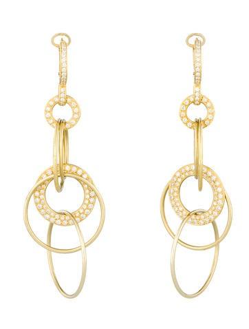 1.5ctw Diamond Set Drop Earrings