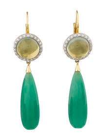 Mimi Gemstone & Diamond Drop Earrings