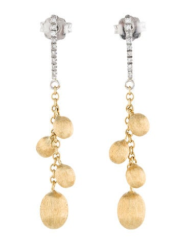 Nanis Brushed Diamond Drop Earrings