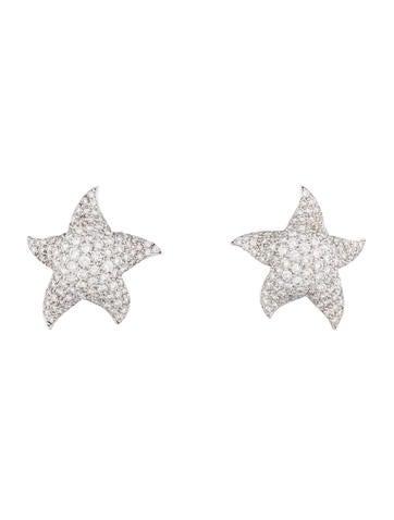 4.44ctw Diamond Star Earrings
