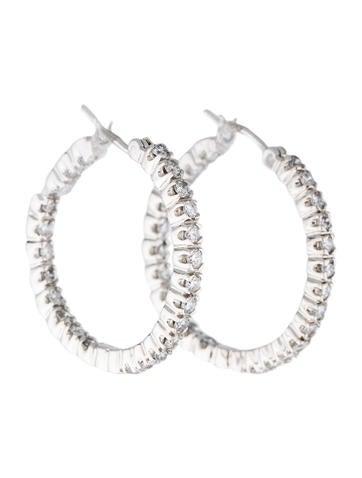 14K Diamond Hoop Earrings