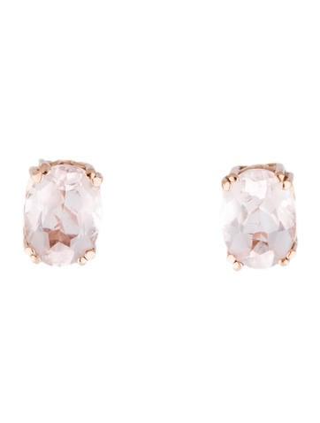 14K Morganite Stud Earrings