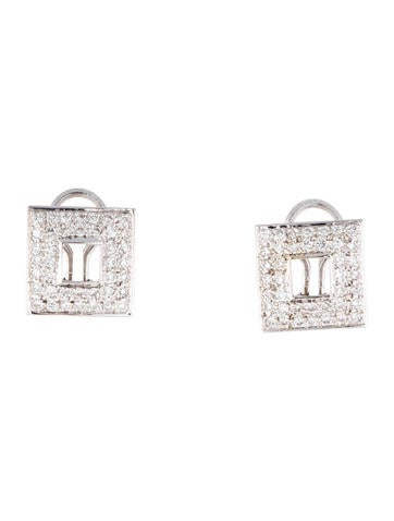 Geometric Diamond Earclips