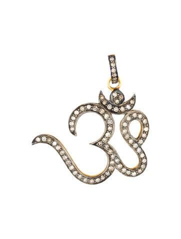 1.5ctw Diamond 'OM' Pendant