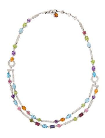 35ctw Gemstone & Diamond Necklace