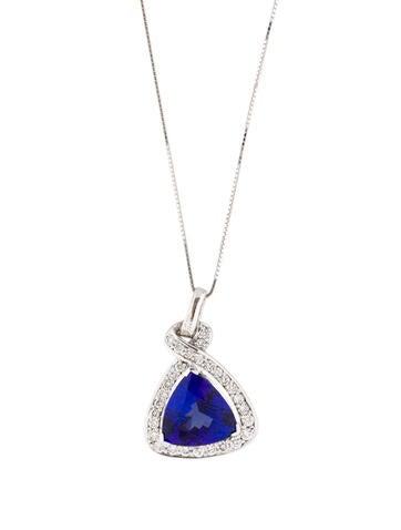 Tanzanite and Diamond Pendant Necklace 0.81ctw