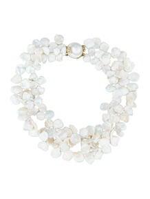 Natural Keshi Petal Pearl Necklace