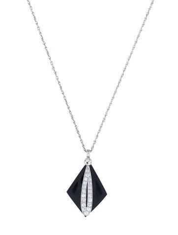 Art Deco Diamond Necklace 0.65ctw