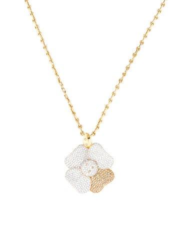 5.02ctw Pavé Diamond Flower Necklace
