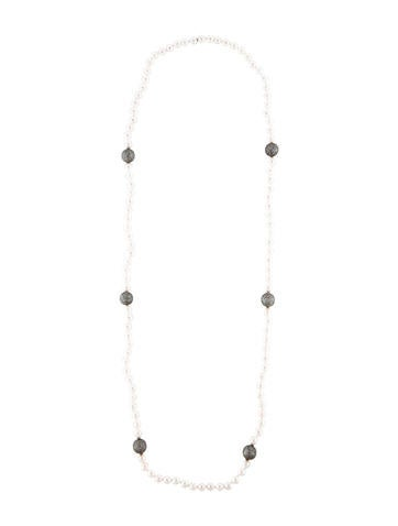 5.00ctw Diamond and Cultured Pearl Necklace