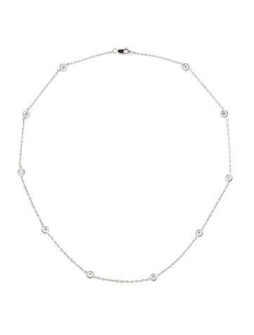 1.74ctw Diamond Station Necklace