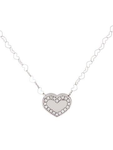 Nanis Diamond Heart Necklace