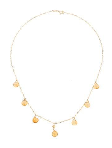 8.05ctw Citrine Briolette Necklace