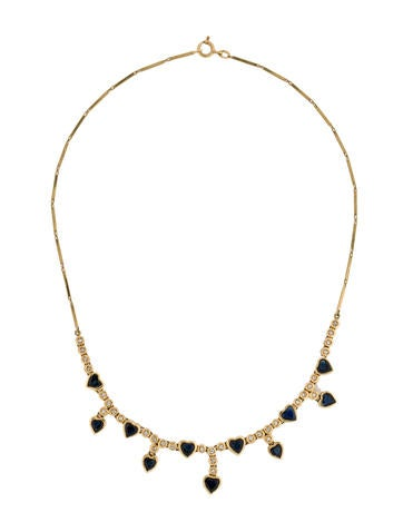 5.50ctw Sapphire and Diamond Necklace