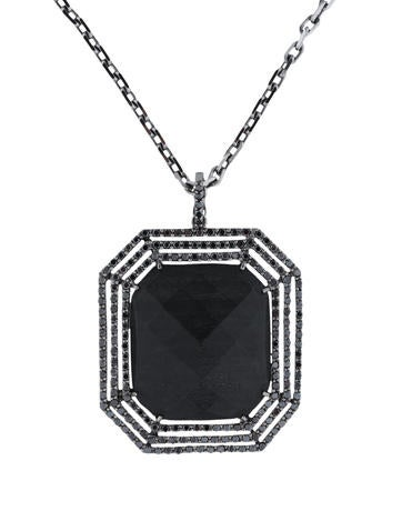 Ebony and Black Diamond Necklace