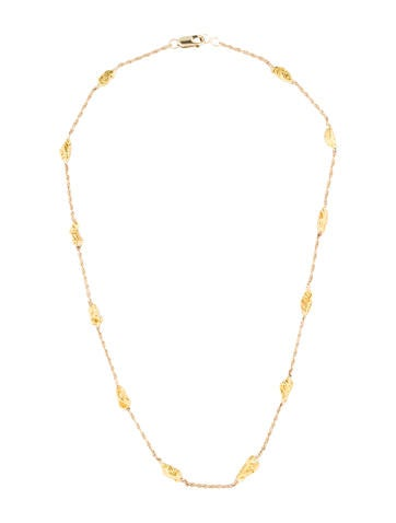 14K Gold Nugget Ketting