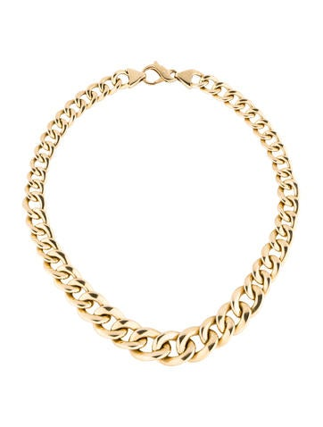18K Curb Chain Necklace