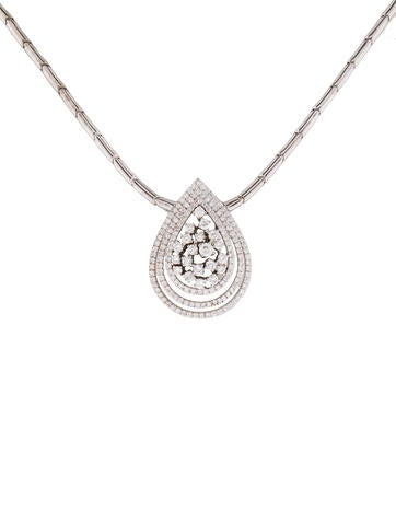 Teardrop Diamond Pendant Necklace