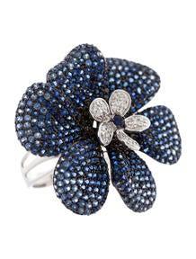 5.19ctw Sapphire and Diamond Ring