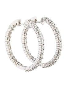 Diamond Hoop Earrings 2.80 ctw