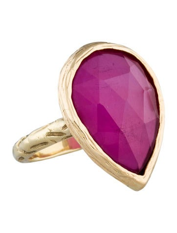 Ruby Slice Doublet Ring