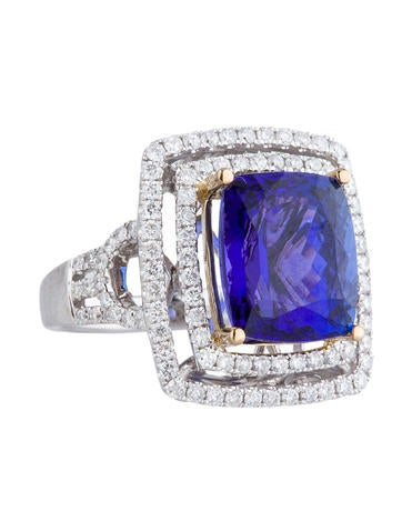 9ct Tanzanite and Diamond Cocktail Ring