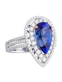 4.77ctw Tanzanite and Diamond Dinner Ring