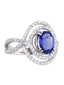 1.97ct Tanzanite and Diamond Ring