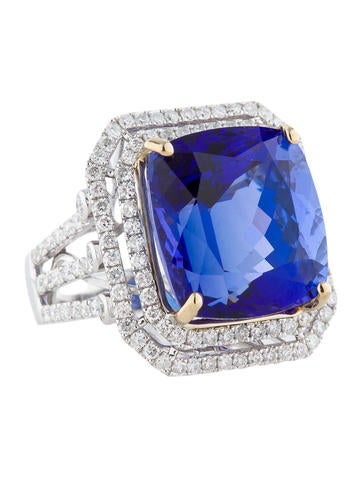 23ct Tanzanite and Diamond Ring