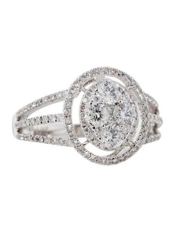 1.41ctw Diamond Halo Ring