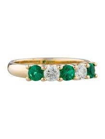 Emerald & Diamond 'Trellis' Ring
