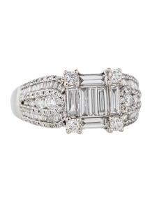 1.00ctw Diamond Cluster Illusion Ring