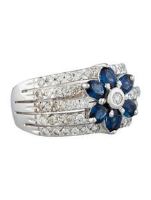 Levian Diamond and Sapphire Ring