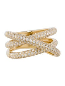 1.40ctw Diamond Crossover Ring