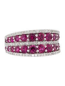 2.06ctw Ruby and Diamond Ring