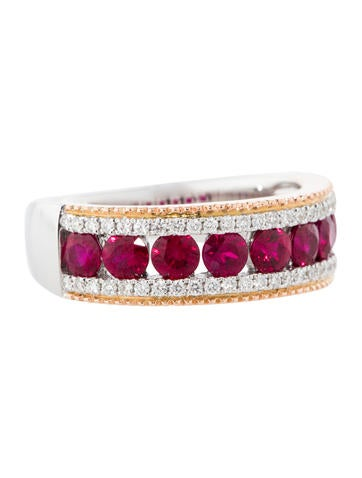 1.33ctw Ruby and Diamond Ring