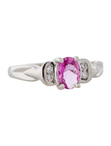 1.20ctw Pink Sapphire and Diamond Ring