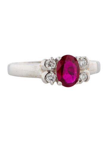 1.20ctw Ruby and Diamond Ring