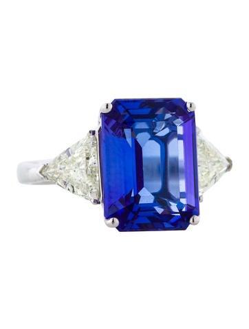 8.07ctw Tanzanite and Diamond Ring