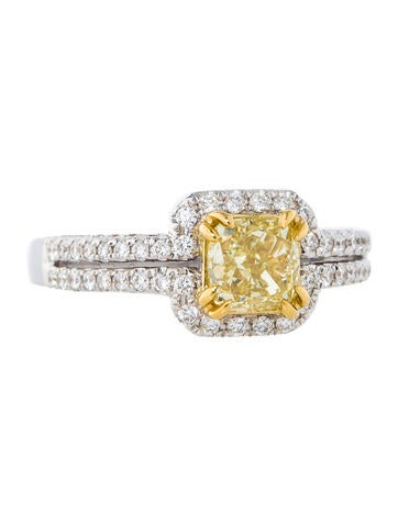 .80ctw Fancy Yellow Diamond Ring
