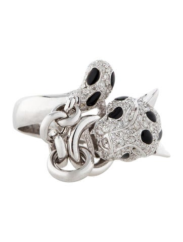 1.20ctw Diamond Panther Ring