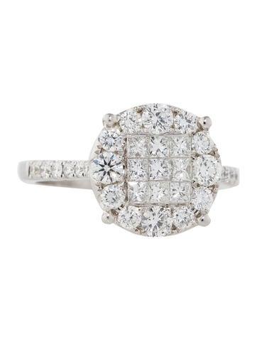 1.32ctw Diamond Cluster Ring
