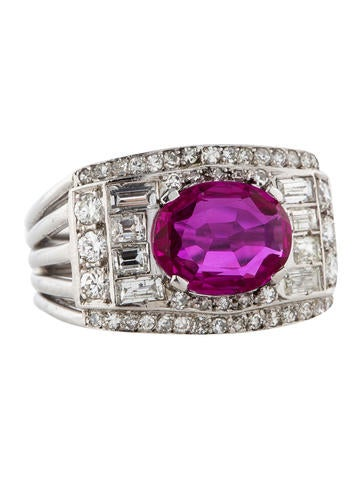 2.22ctw Ruby and Diamond Ring