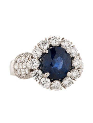 2.00ctw Diamond and Sapphire Ring