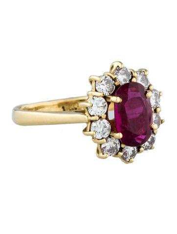 1.2ctw Pink Sapphire & Diamond Ring